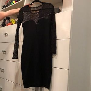 French Connection Lace Sleeve Bodycon Dress